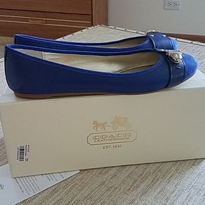Coach Shoes - New Coach Daphnee leather and suede blue shoes